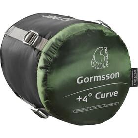 Nordisk Gormsson +4° Curve Slaapzak L, zwart/groen